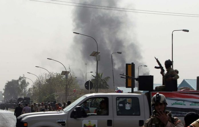 At least two blasts went off near a building currently housing the justice ministry.