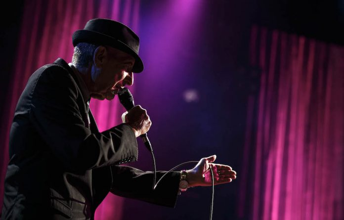 Canadian singer-songwriter Leonard Cohen performs during the first night of the 47th Montreux Jazz Festival July 4