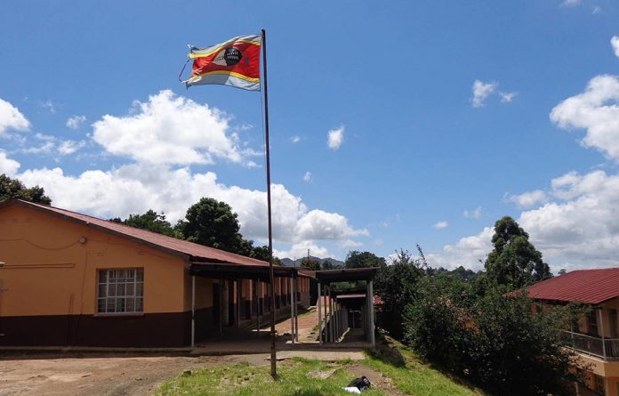 A Kingdom of Swaziland flag hoisted at a public school in Mbabane on January 22 2017.