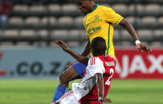 Losing cause: Mamelodi Sundowns dropped points against Ajax Cape Town this week.