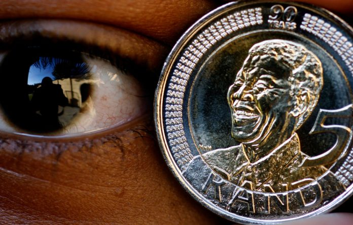 The rand has dropped to record lows against the dollar in recent weeks.