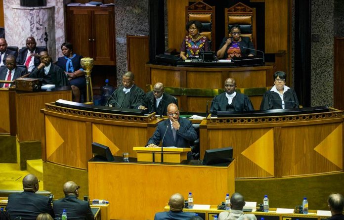 President Jacob Zuma during the 2016 State of the Nation address debate.