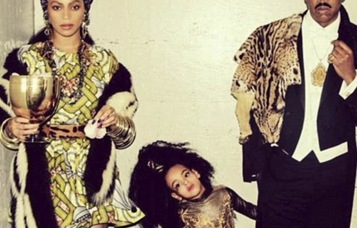 Stereotypes: Beyoncé and Jay-Z dressed up as Queen Aoleon and Prince Akeem in Coming to America.