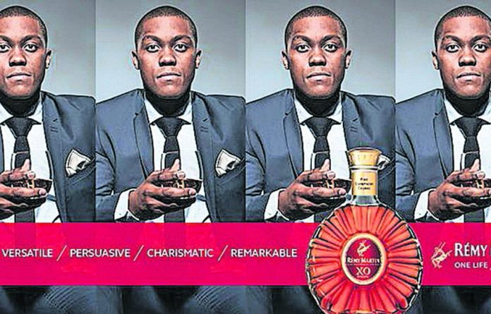 Past: Mayihlome Tshwete is plastered on the Rémy Martin billboard