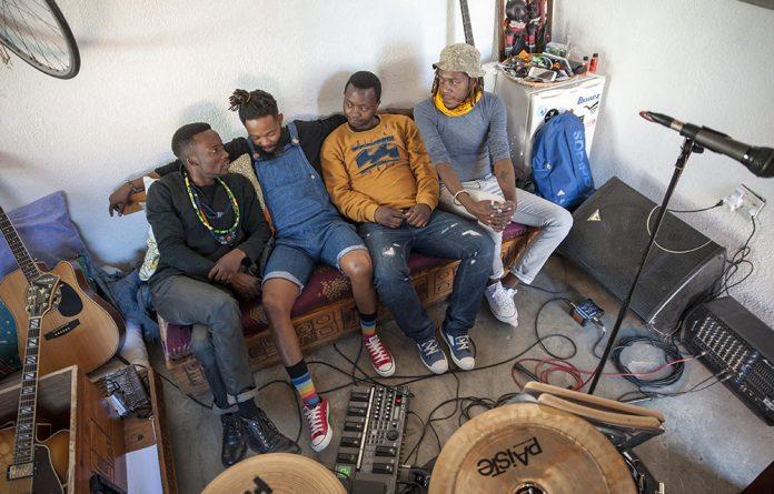 Urban Village at rehearsal in Soweto.