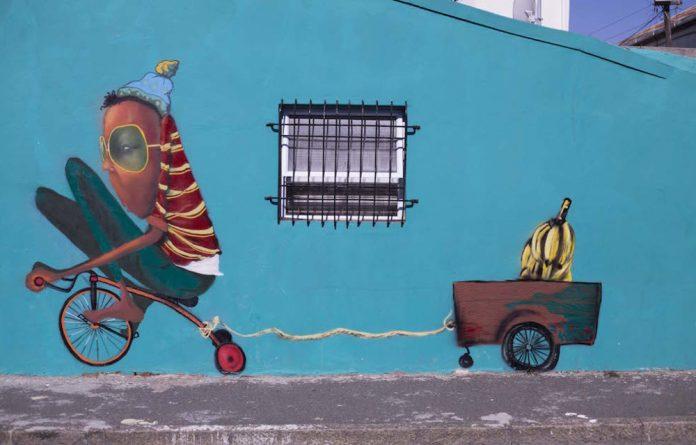 Work by South African street artist Breeze Yoko.