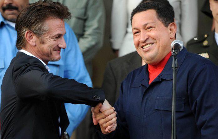Sean Penn with Hugo Chávez.