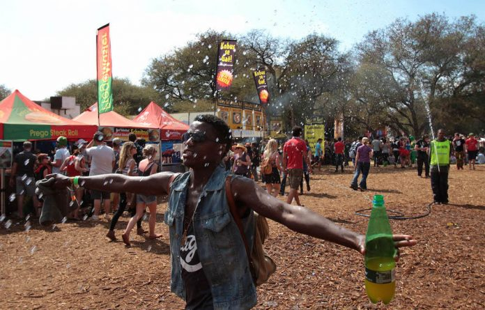 Centre of attention: Black people are still a novelty at South African music festivals.