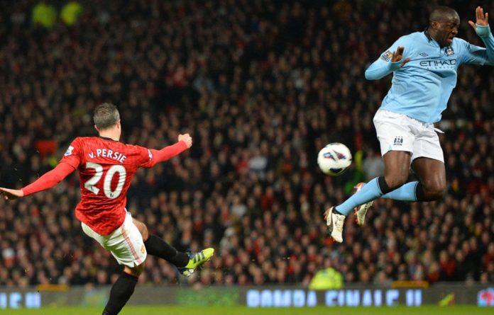Manchester United's striker Robin van Persie
