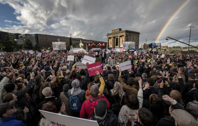 People power: Jeremy Corbyn attracted enthusiastic crowds ahead of Labour's unexpectedly strong election showing