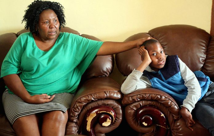 Payback: Prudence Molefe was awarded R30-million when Kagiso was disabled after birth.