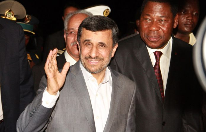 Iran's President Mahmoud Ahmadinejad and Benin's President Thomas Boni Yayi.