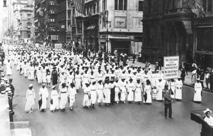 Silent protest parade in New York against the East St. Louis riots