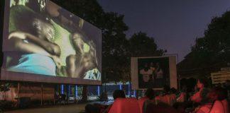 The Cinema Numerique Ambulant outdoor theatre during the film festival in Ouagadougou.