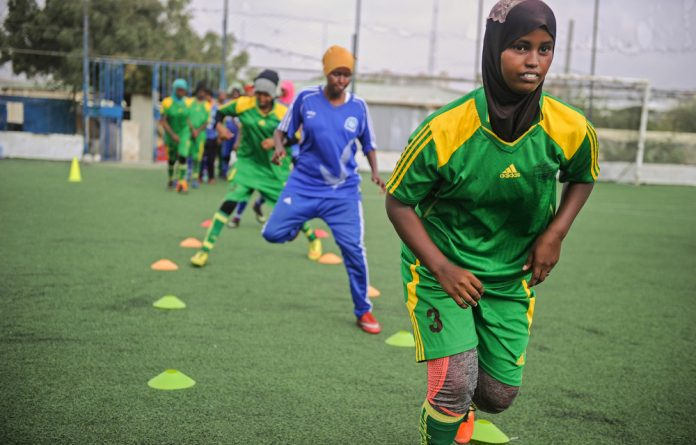 Defying the obstacles: Somalia's Golden Girls in training.