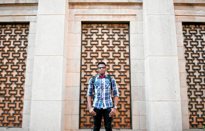Out of pocket: Science student Awakhiwe Kona can't afford all his textbooks even though he has a bursary.
