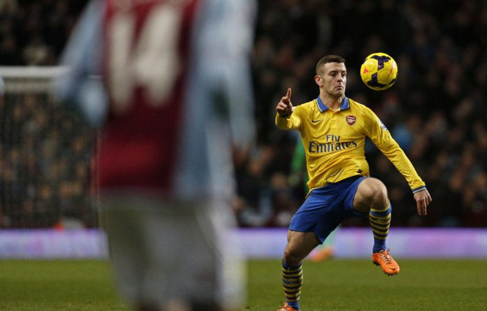 Arsenal's Jack Wilshere opened the scoring against Aston Villa after 34 minutes into the match.