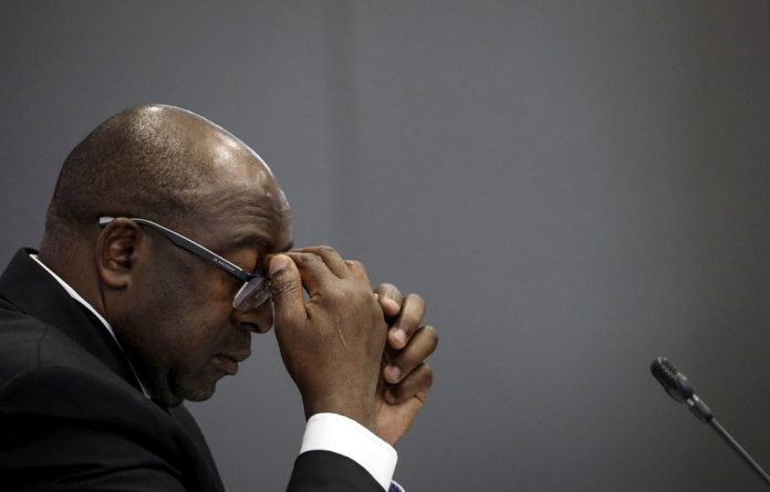 Nhlanhla Nene at the commission of inquiry into state capture.
