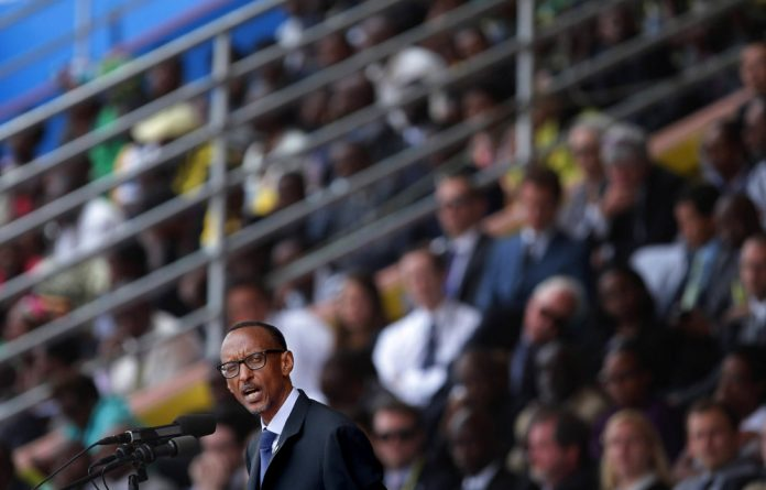 Rwanda's President Paul Kagame at the 20th anniversary of his country's genocide. He is in charge of reforming the AU and disagrees with SADC's views of the process.