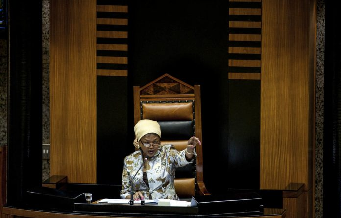 Staying power: Baleka Mbete was the National Assembly's speaker from 2004 to 2008