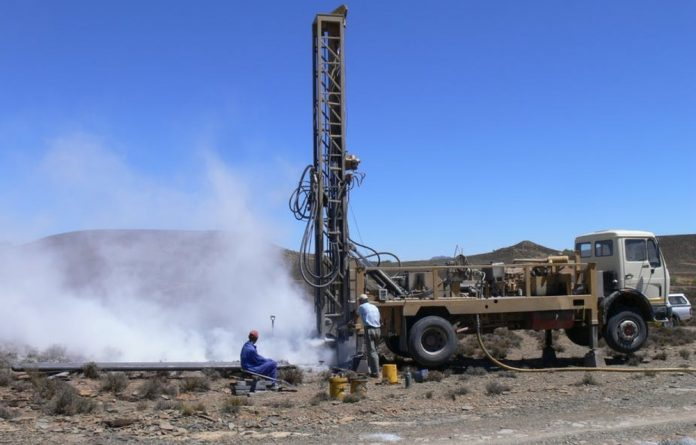 Drilling for water in the Karoo where one major concern from fracking is that groundwater will be affected in the shale gas extraction process.