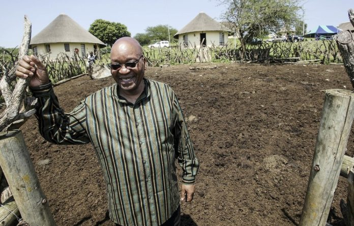 File photo of then-deputy president Jacob Zuma at his homestead in Nkandla on December 13