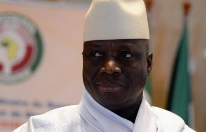 President Yahya Jammeh of the Gambia.