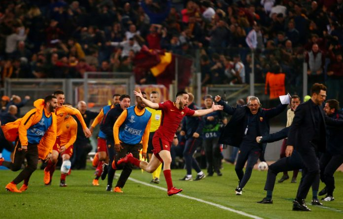 Kostas Manolas to make Roma fans' dreams a reality with an 83rd-minute header that sparked pandemonium on the pitch and in the stands.