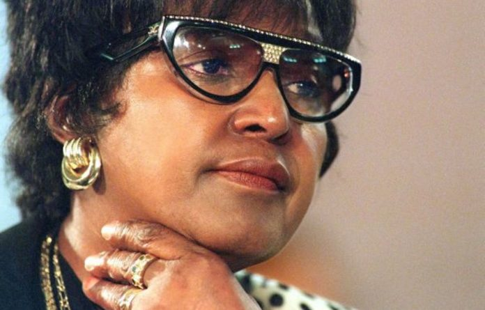 Low point: Winnie Madikizela-Mandela is grilled by the TRC over alleged human rights violations by her football club.