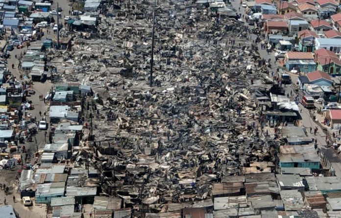 The aerial-view photograph taken in the aftermath of that ravaged Khayalitsha's Silver Town has gone viral