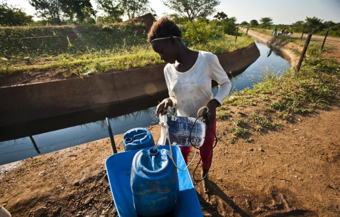 Many South Africans have to collect water that has not been treated even though the Constitution guarantees the right to clean water.