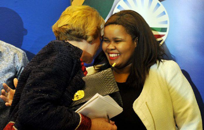 Lindiwe Mazibuko with DA leader Helen Zille.
