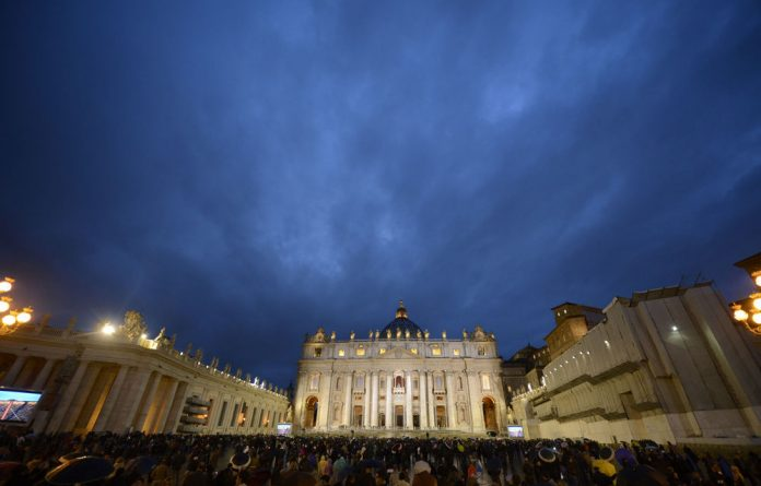 St Peters Square as the public waits for the result of the first vote during a papal election conclave on Tuesday.