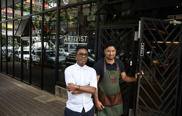 Soul mates: DJ Kenzhero and Bradley Williams desired a space that would combine their interests and so they opened Artivist. Photos: Oupa Nkosi
