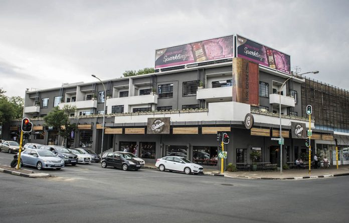 New facade: Rosebank's facelift is nearly completed by the addition of Park Corner and it's restaurants