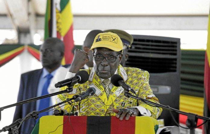 Going nowhere: President Robert Mugabe opens the Zanu-PF congress