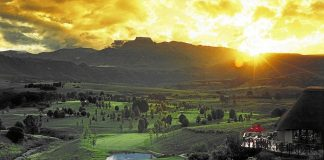 A view to thrill: The idyllic setting of the Champagne Sports Resort in the Drakensburg.