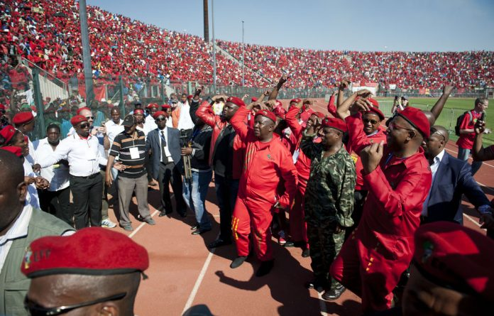 EFF leader Julius Malema won over the crowds at the final rally over the weekend.