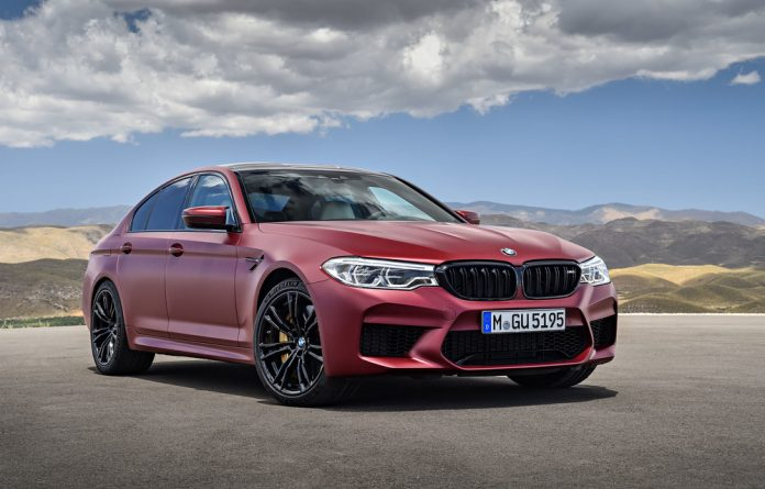 The BMW M5 tops out at over 300km/h