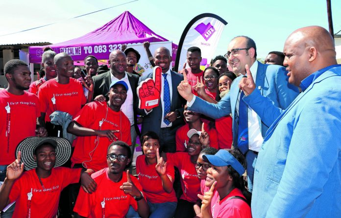 Higher Education and Training health Wellness and Development Centre chief executive Dr Ramneek Ahluwalia and Deputy Minister of HIgher Education and Training Buti Manamela.