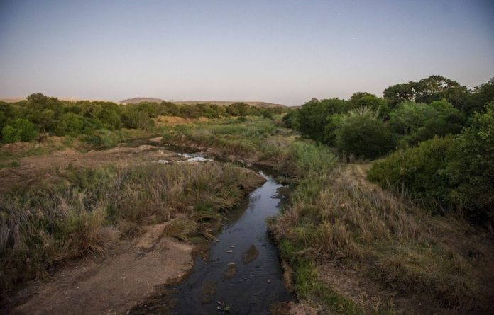 Dirty water: Bosveld Phosphates paid a R2.55‑million fine in 2014m after locals collected data to prove it had polluted the Ga-Selati River a tributary to the Olifants. Photo: Delwyn Verasamy