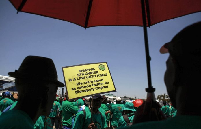 Infighting: Three unions at Sibanye-Stillwater gold mine have accepted a wage offer