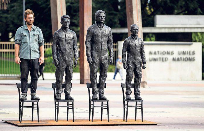 Whistleblowers: Davide Dormino with his sculpture of Edward Snowden