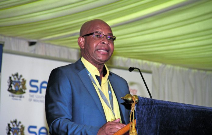 Limpopo Premier Chupu Stanley Mathabatha addresses the AMI conference initiated by the department of science and technology