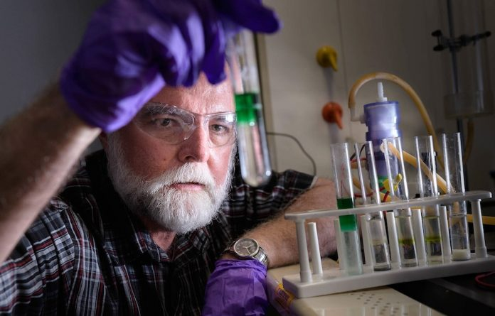 Creative spark: Professor John Cushman and others have found a way to recharge car batteries quickly at petrol stations.