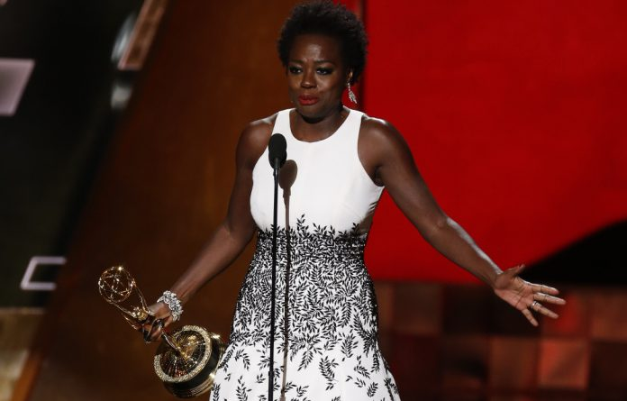 Viola Davis is the first black woman to win the Emmy for outstanding actress in a drama.