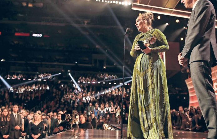 Freedom of speech: Adele used her Grammy acceptance speech to tackle issues.