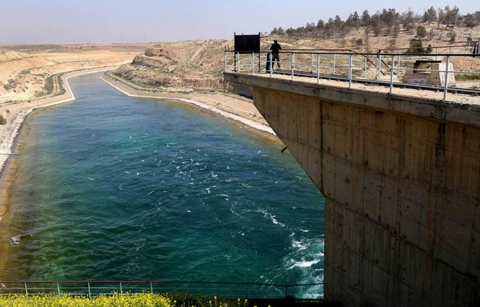 The Tabqa Dam on March 29 2017