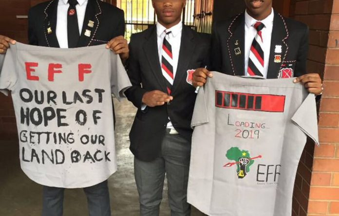 The KZN education department went into bat for the three Maritzburg boys and their t-shirt protest.
