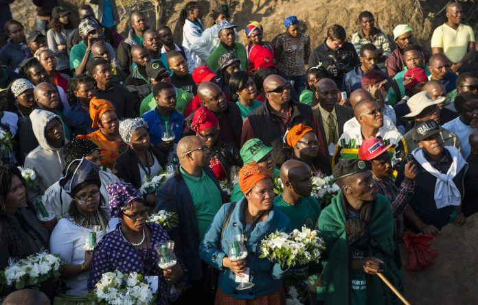Scarred: Families of the dead miners marked the fourth anniversary of the tragedy knowing they would soon be undergoing psychological evaluation. Photo: Delwyn Verasamy